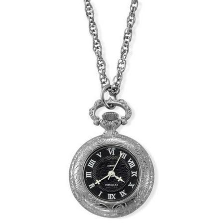 Gotham Women's Antique Style Silver-Tone Quartz Fashion Pendant Watch # GWC14332SB Antique Gold Pocket Watch