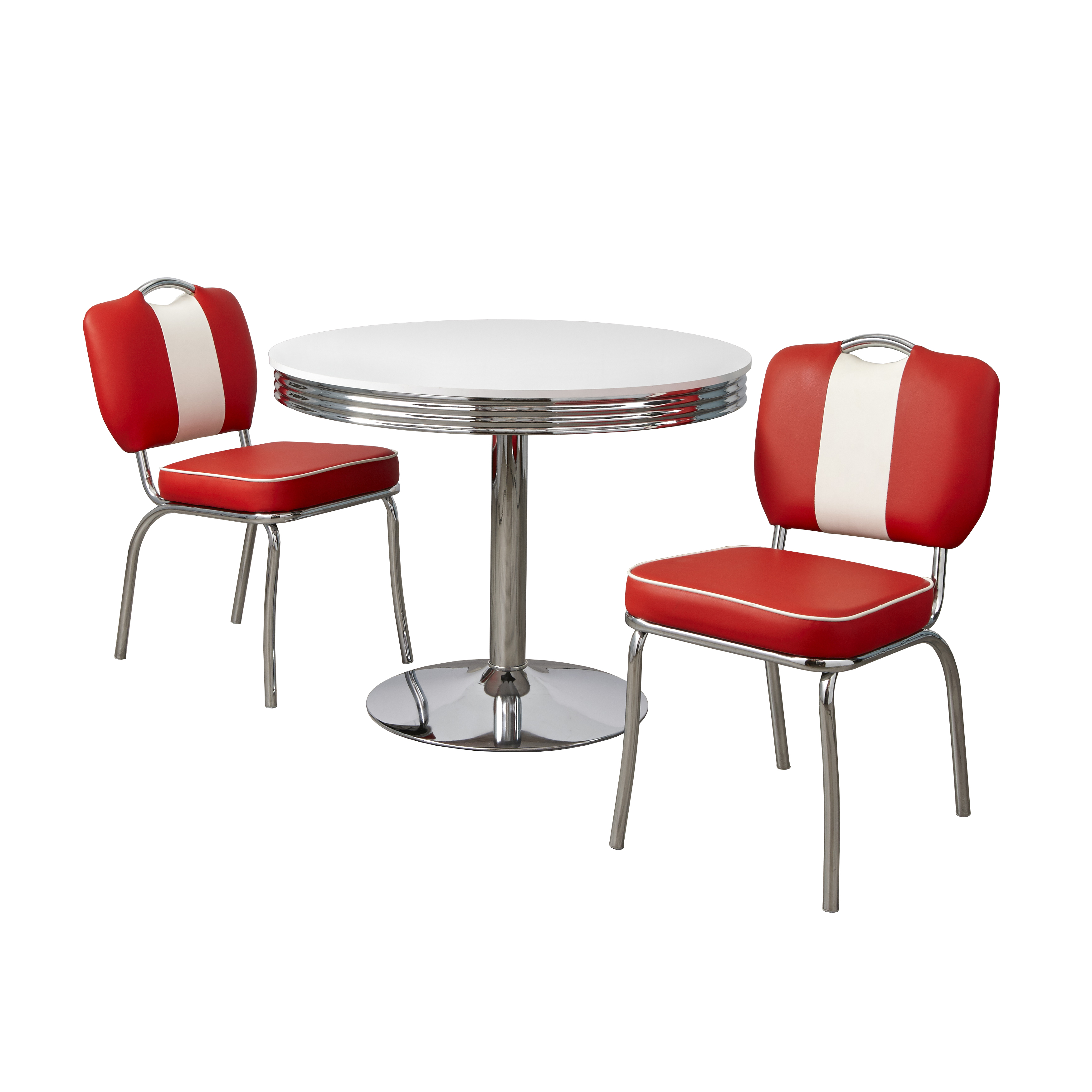 Raleigh Retro 3-piece Dining Set, Multiple Colors