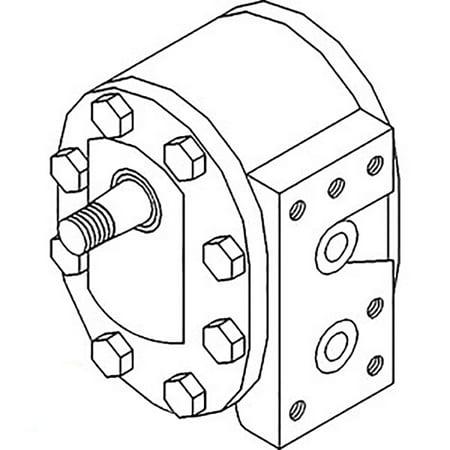 527397R93-E New Case IH Tractor Hydraulic Pump 1026 1066