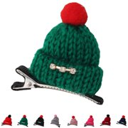 10Pcs Korean Style Children Kids Girls Knitting Woolen Yarn Hat Hair Clips Hairpin Christmas Barrette Headwear Hair Grip