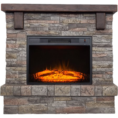 Decor Flame Electric Fireplace With 41 Mantle