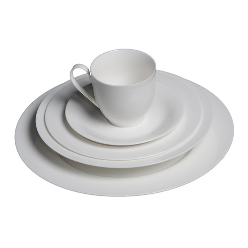 Flato Home Products Bone China 20 Piece Dinnerware Set, Service for 4 by Flato Home Products