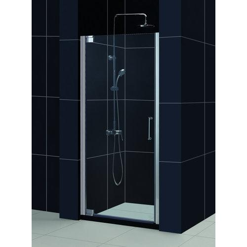 "Dreamline SHDR-4125720 Elegance 25-1/4"" - 27-1/4"" Frameless Pivot Shower Door"