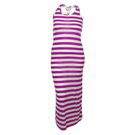 Hula Honey Women's Stripe Dress Cover - Hawaiian Hula Dress