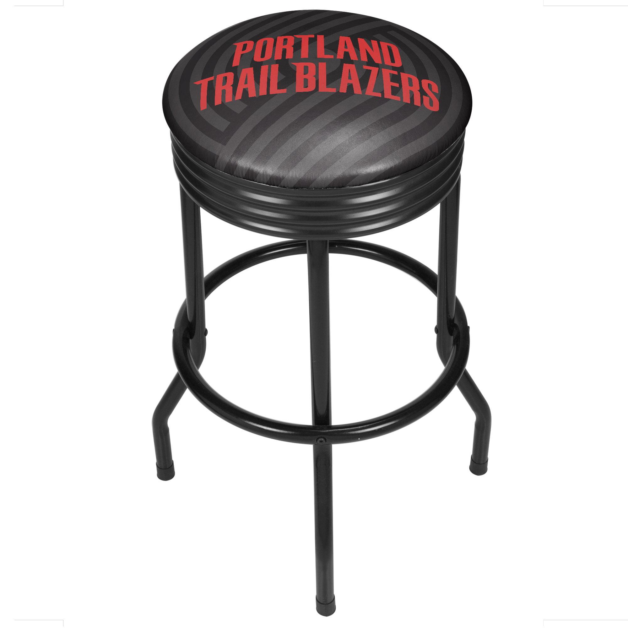 NBA Black Ribbed Bar Stool - Fade - Portland Trailblazers