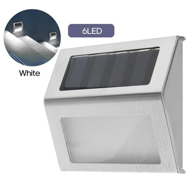 6LED Solar Powered Stair Lights Wall Lamp Solar Step Light IP65 G4F0