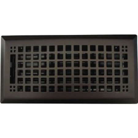 6 X12 Rockwell Oil Rubbed Bronze Floor Register This On Opens A Dialog That Displays Additional Images For Product With The Option To Zoom In Or