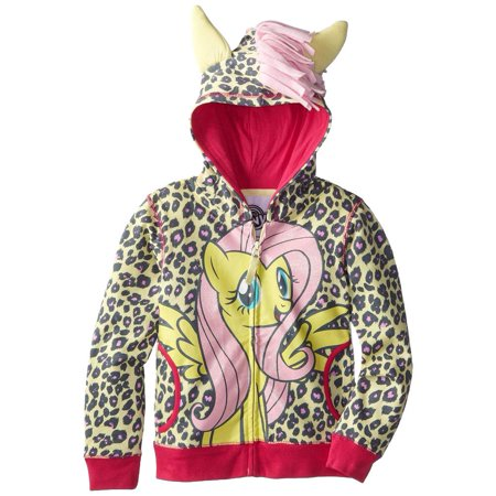 My Little Pony - Fluttershy Front Girls Juvy Costume Zip Hoodie - Fluttershy Hoodie