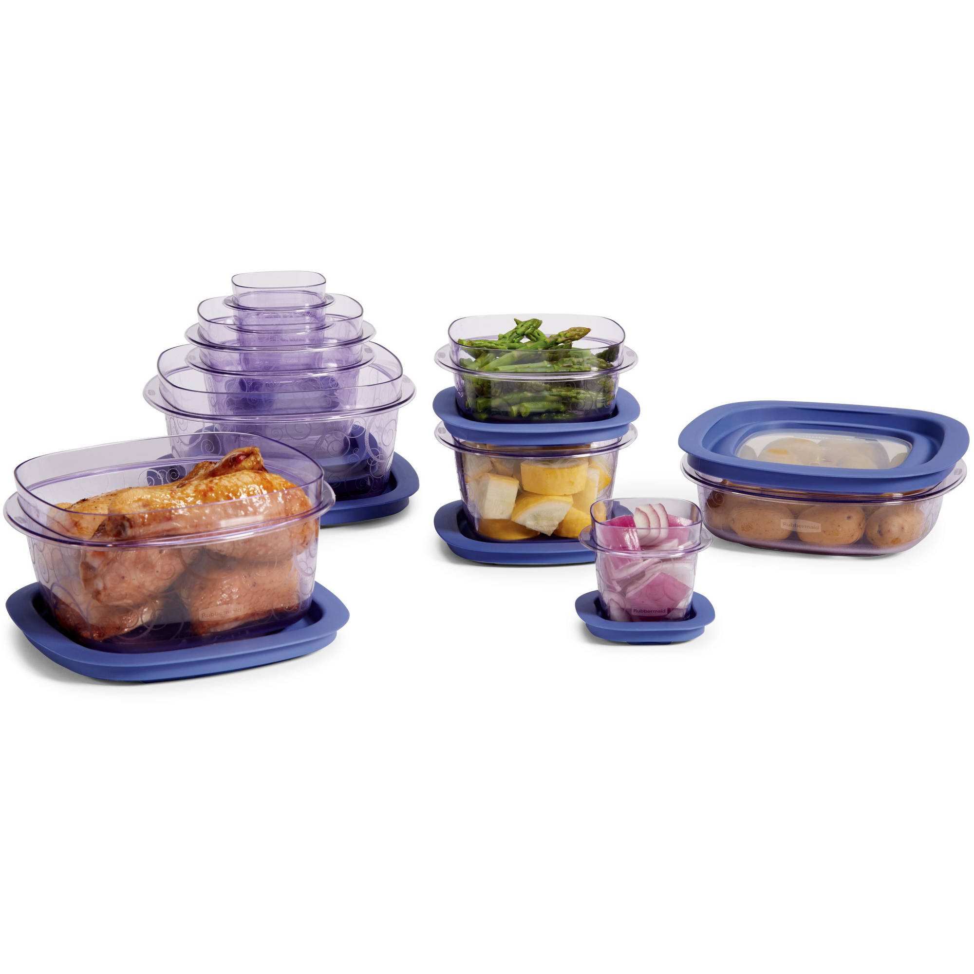 sc 1 st  Walmart & Rubbermaid Premier 20-Piece Set Purple - Walmart.com