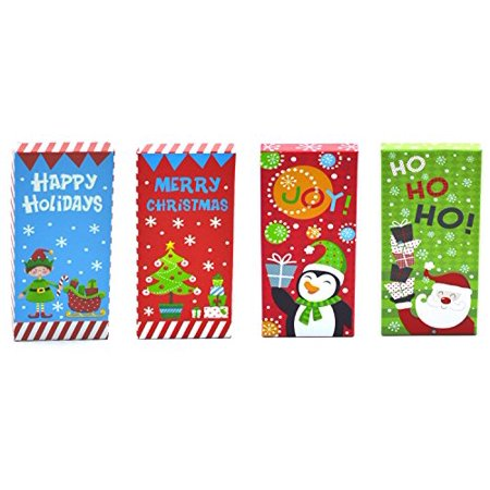 Gift Box Place Card Holder - Christmas Money, Check & Gift Card Holder Boxes (Set of 4)