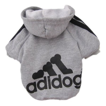 Cute Clothes For Puppies (Pet Puppy Dog Cat Coat Clothes Hoodie Sweater Costumes Gray)