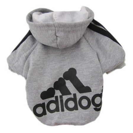 Pet Puppy Dog Cat Coat Clothes Hoodie Sweater Costumes Gray L