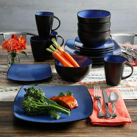 Gibson Home Soho Lounge Square Stoneware 16-piece Dinnerware Set ...