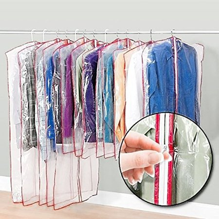 Lavohome 13 Zippered Garment Bags Keep Waredrobes Safe Dress Suit Cover Clear Dust Clean Keeps Out