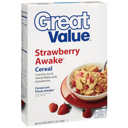 Great Value Strawberry Awake Cereal, 12 oz