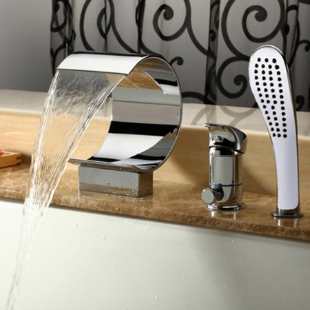 Kokols Mpf02 Deck Mount Bathtub Faucet With Hand Shower Walmartcom