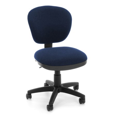 OFM Lite Use Model 150 Armless Computer Swivel Task Chair, Fabric, Blue ()