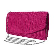 Peach Couture Womens Vintage Satin Pleated Envelope Evening Cocktail Wedding Party Handbag Clutch (Lilac)