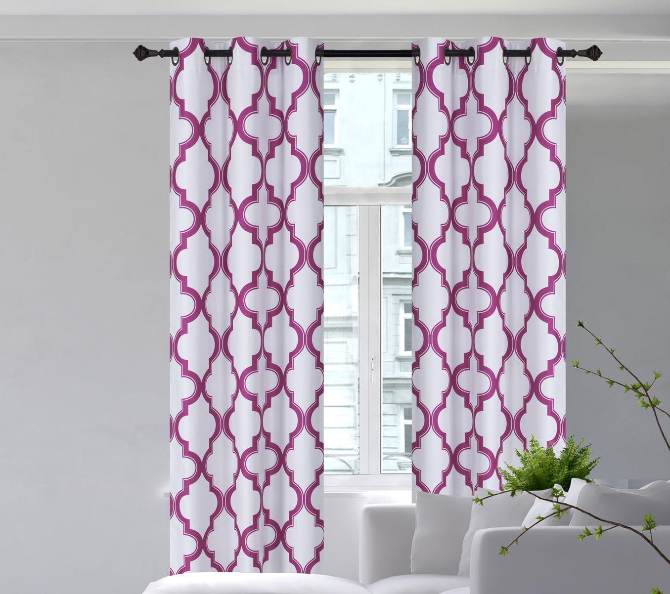 Sss 2 Pc Hot Pink Solid Blackout Room Darkening Panel Curtain Set Two 2 Window Treatments Of 37 Wide X 84 Length Each Panel Walmart Com Walmart Com