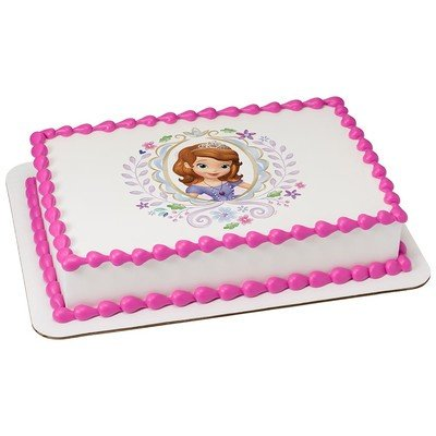Sofia the First Cupcake Ring Toppers - 24 ct, Pack of 24 plastic rings By DecoPac