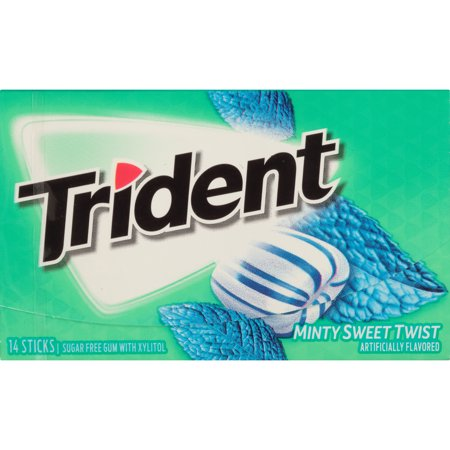 Mondelez Global Trident Minty Sweet Twist, 14 ct (Pack of (Minty Sweet)