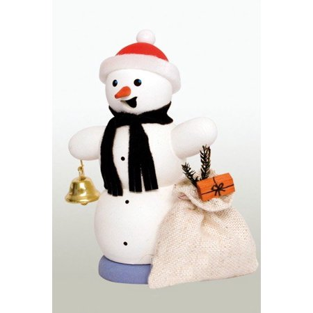 snowman with gifts german christmas incense smoker made in germany new burner