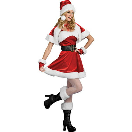 Santa's Sassy Helper Adult Costume - Hamburger Helper Costume