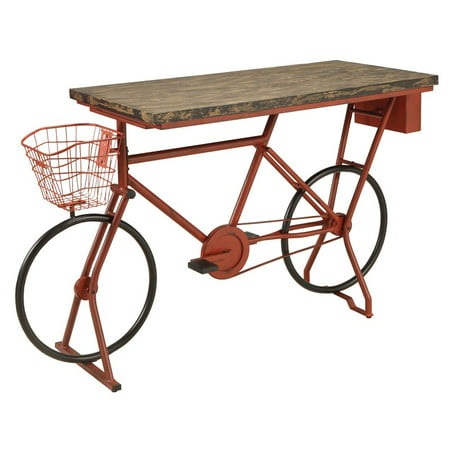 Furniture of America Stratus Industrial Bike Bar Table in Red](Red Table)