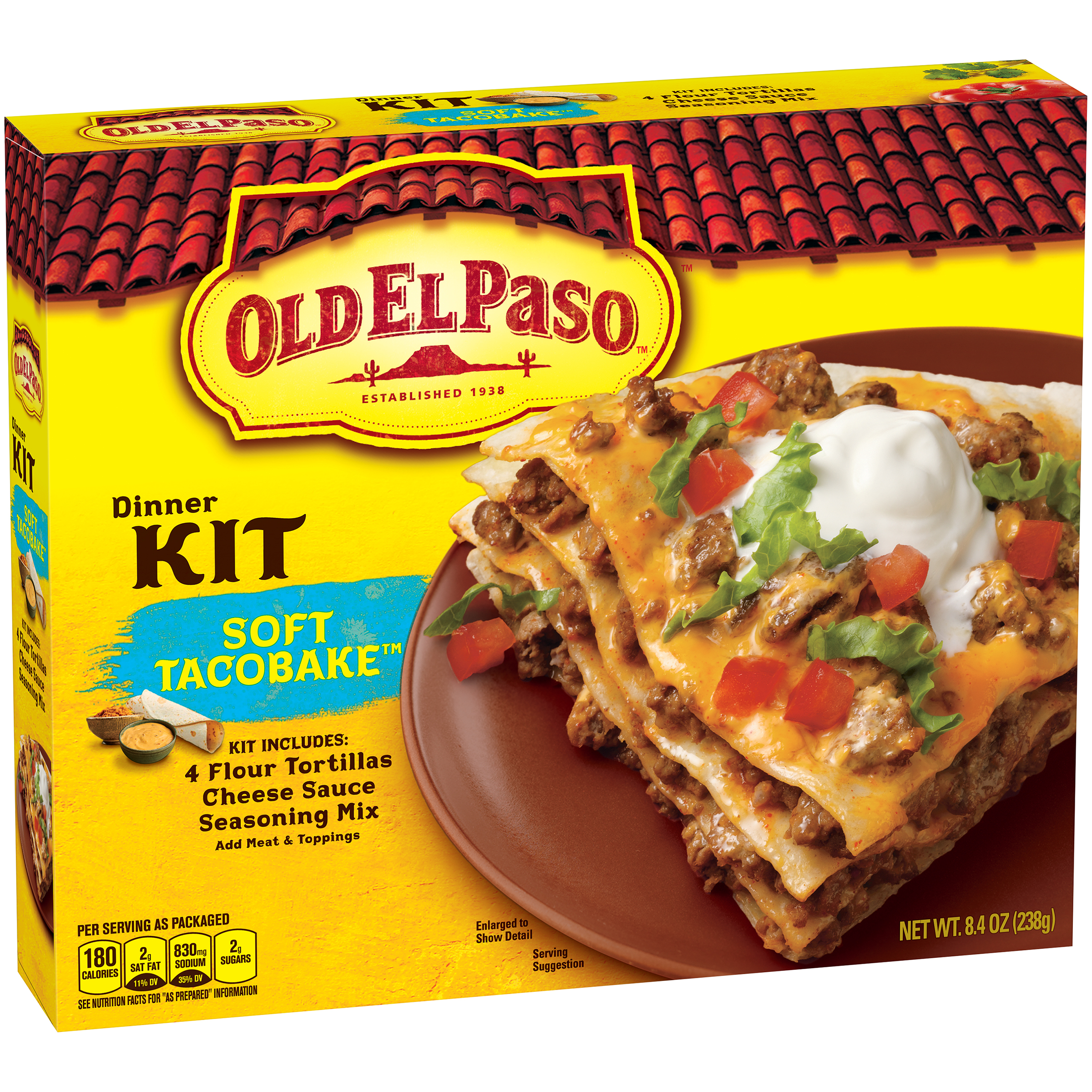 Old El Paso��� Soft TacoBake��� Dinner Kit 8.4 oz. Box