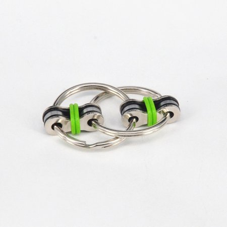 Fidget Ring Key Chain Spinner - Fidget Toy - Anti-Anxiety - Stress Relief (GREEN)
