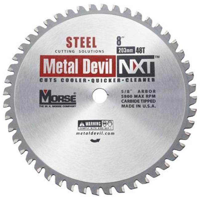 M.K. Morse 497-CSM848NSC Metal Cutting Circular Saw Blade- 8 in. 48 Tooth - image 1 of 1