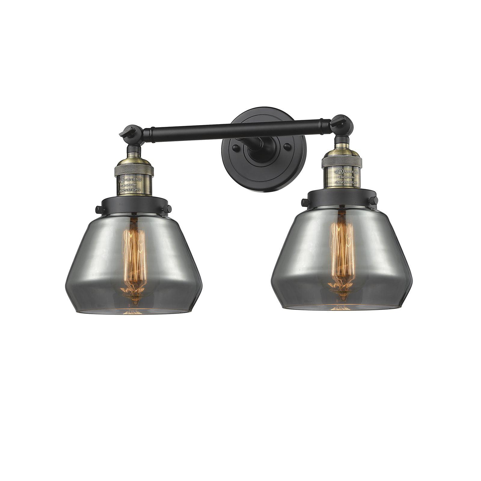 "Innovations 2-LT LED Fulton 16.5"" Bathroom Fixture Black Brushed Brass 208-BBB-G173-LED by"