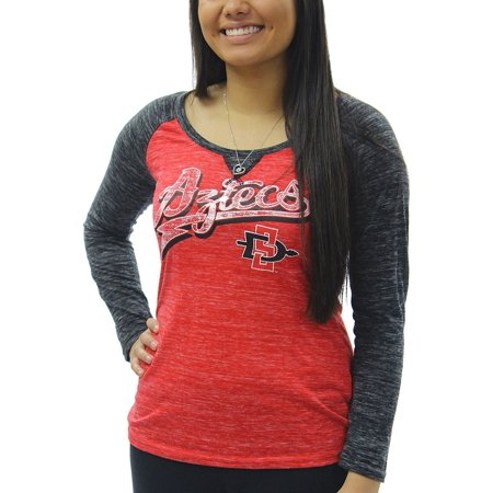 Creative Apparel Women's NCAA San Diego State Aztecs Bolt Tail Long Sleeve T-Shirt Tee](Iu Ncaa)