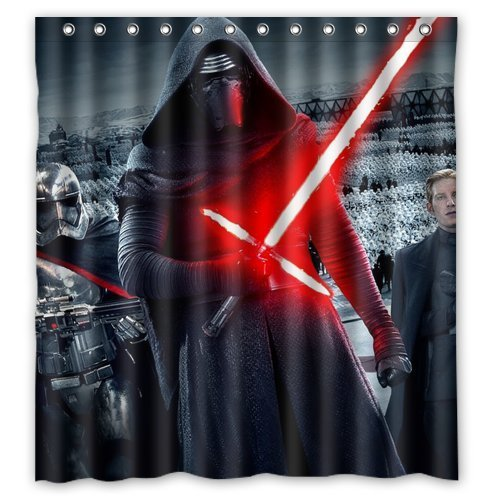 DEYOU Star War Lightsaber Darth Vader Shower Curtain Polyester Fabric Bathroom Size 60x72 Inches
