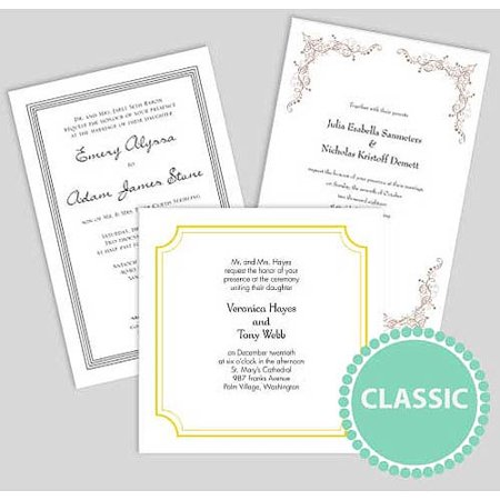 personalized wedding invitations classic walmartcom With walmart wedding invitations reviews