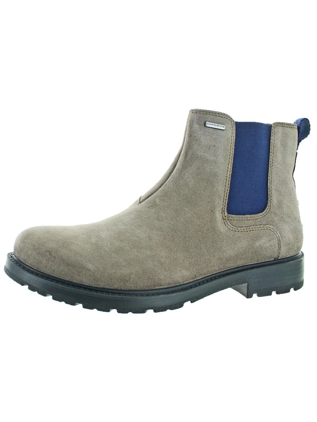 Geox Mens Fiesole Suede Waterproof Chelsea Boots