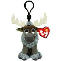 TY Beanie Babies Sparkle Disney Frozen Sven Reindeer Clip