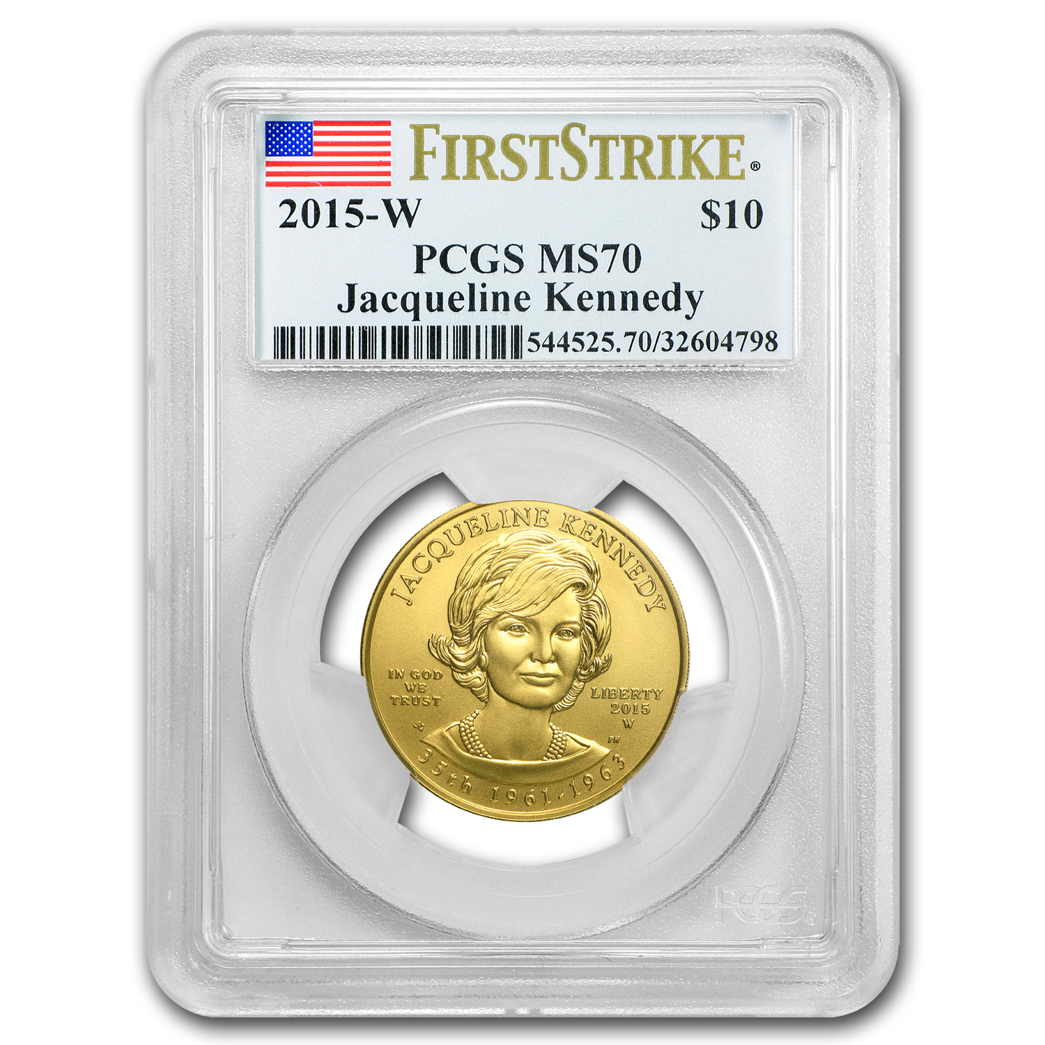 2015-W 1/2 oz Gold Jacqueline Kennedy MS-70 PCGS (FS)