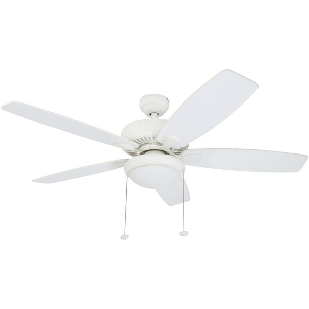 52 Honeywell Blufton Outdoor Ceiling Fan White Walmart Com Walmart Com