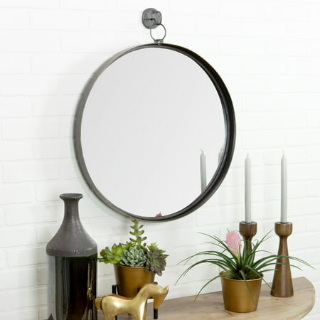 Aspire Home Accents Bescott Suspended Round Wall Mirror - 24W x 28H in. ()