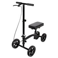 Carex Knee Scooter with Knee Platform Pad, Crutches Alternative, Black