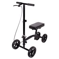 Carex Knee Scooter with Knee Platform Pad, Crutches Alternative, Black