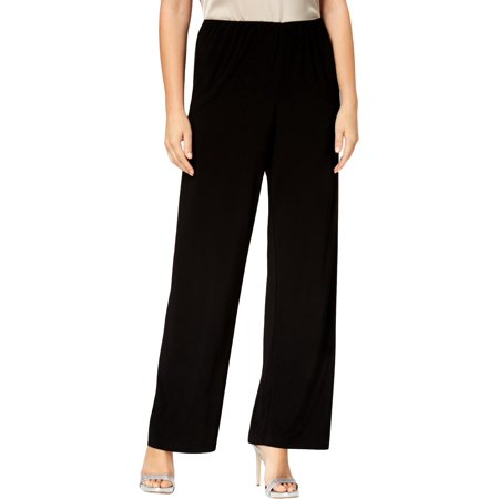 - Alex Evenings Womens Chiffon Dressy Wide Leg Pants Black L