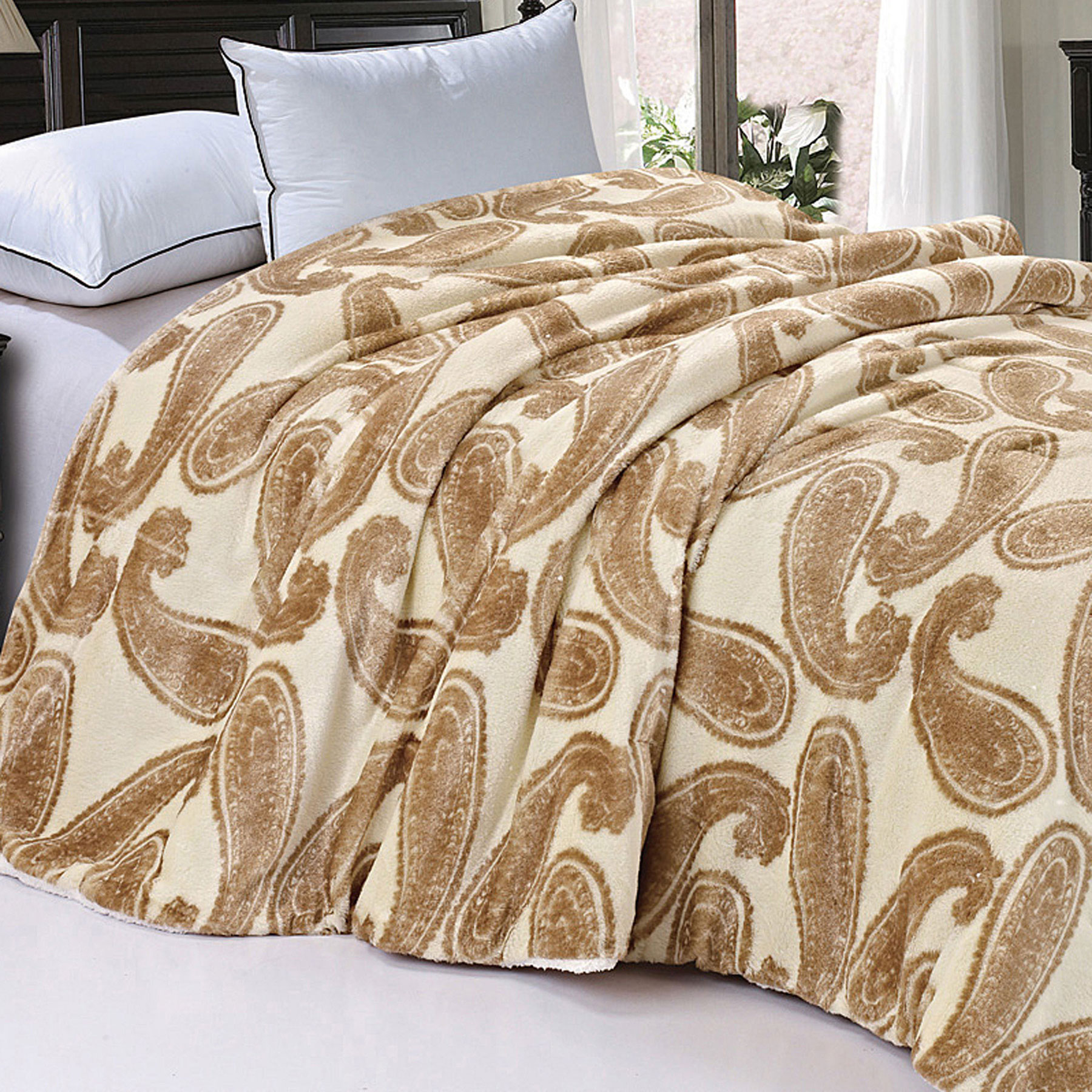Click here to buy BOON Throw & Blanket Safari Animal Nature Faux Fur and Sherpa Queen Size Blanket by BNF Home.