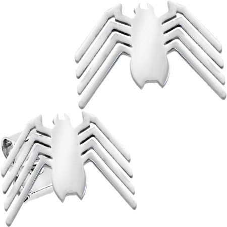 - Officially Licensed Stainless Steel Marvel Comic Spider Man Logo Stud Earrings