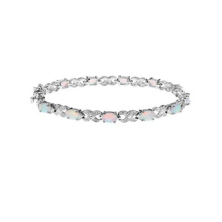 Created Opal Bracelet 2.50 Carat (ctw) in Sterling Silver