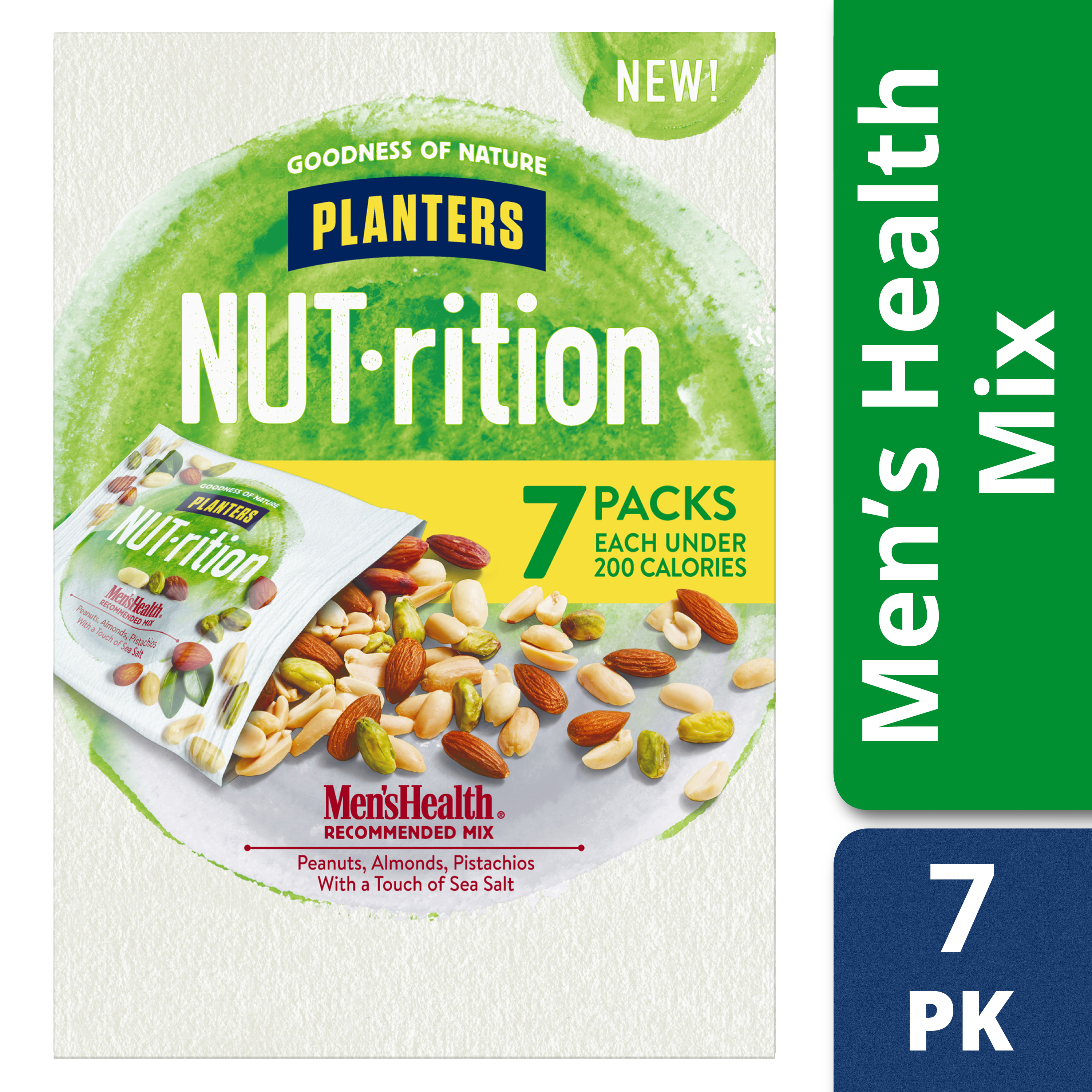 Planters NUT-rition Menâs Health Recommended Mix, 6 - 1.25 oz Bags
