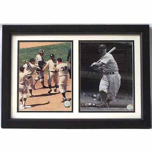 MLB Roger MarIs and Lou Gehrig New York Yankees 12x18 Double Frame