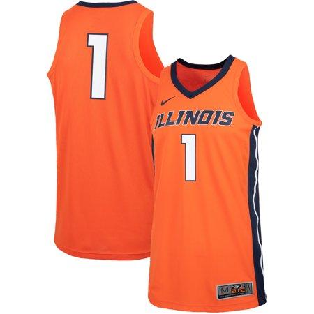 #1 Illinois Fighting Illini Nike Replica Basketball Jersey - Orange - Nike Replica Basketball Jersey