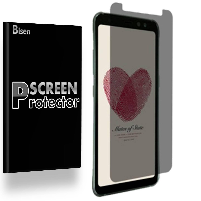 "Samsung Galaxy "" S8 Active "" [BISEN] Privacy Anti-Spy Screen Protector, Anti-Scratch, Anti-Shock, Anti-Bubble"